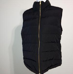 Talbot's Woman Down Black Vest - 2X
